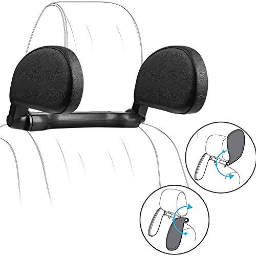 POEO Auto Cojín Cuello Almohada Reposacabezas Plegable, Almohada Ortopédica Cervica, Soporte de Cuello 180° Retráctil para Dormir en el Automóvil para Adultos
