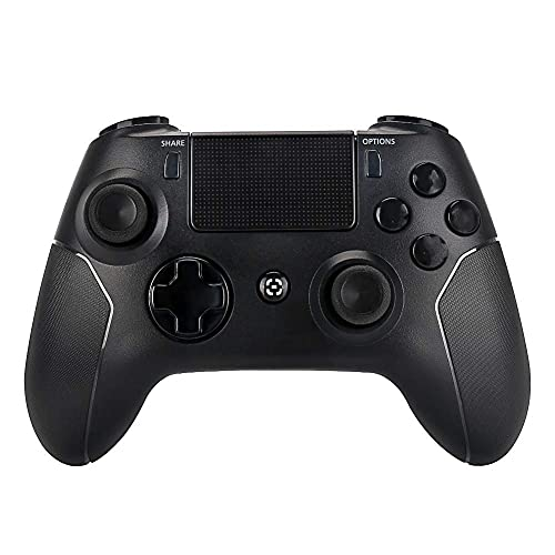 OUBANG Wireless Controller Compatible with P-4 Console, for P-4 System with Charging Cable,Good Choice Game Joystick Gift for Christmas, Brithday (Black Remote Control)