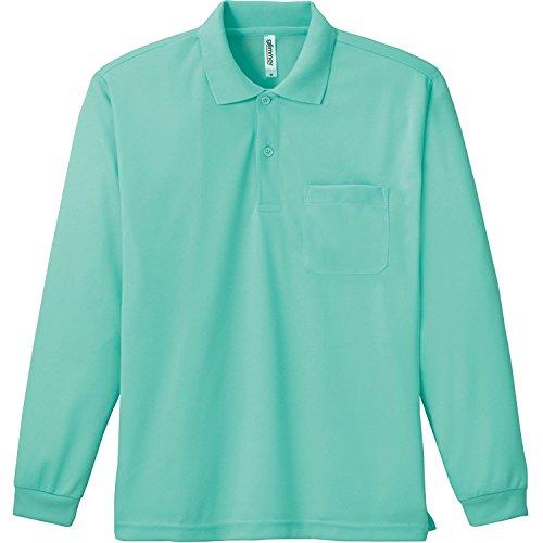 [グリマー] 4.4オンス ドライ 長袖 ポロシャツ [ポケット付] 00335-ALP メンズ ミントグリーン 5L