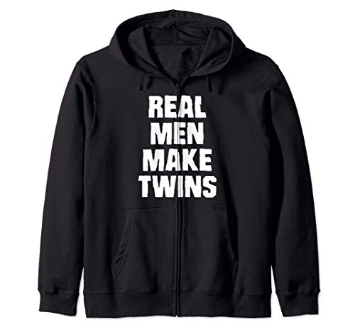 Papà dei gemelli - I veri uomini fanno i gemelli. Retrò Felpa con Cappuccio