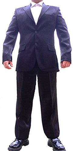 don Pino Herren Anzug Glanz Schwarz tailliert Herrenanzug Glanzanzug Größe 54 XL
