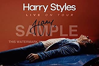 One Direction Harry Styles Póster Foto Firmado PP 12x8 Pulgadas Regalo Perfecto