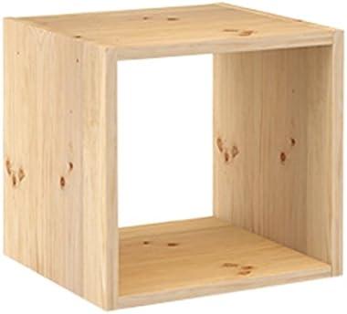 Europe & Nature DMC100.99 Étagère 1 Cube, Bois, Beige, 36,5 x 33 x 36,5 cm