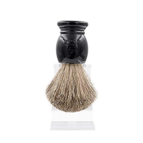 La Maison du Barbier Blaireau Noir - Poils Pur Gris Taille 12-100% Fabriqué en France