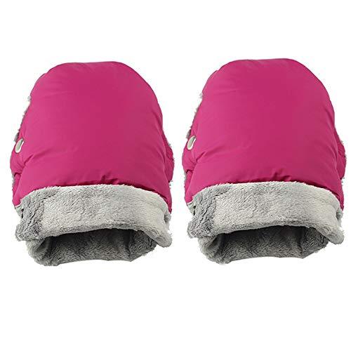 Vivi-Star Guantes de cochecito (rosa) | Guantes para cochecito | Manguito con interior de forro polar guantes anticongelante | Protege-Manos | Guantes cortavientos impermeables | Calientamanos mano ⭐