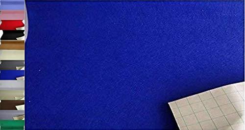 StoffBook EDEL BASTELFILZ FILZSTOFF SELBSTKLEBEND 100CM BREIT STOFF STOFFE, B887 (ROYALBLAU)