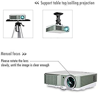 Digital HD Home Cinema Projector LED LCD Portable HDMI USB 1080P Indoor Outdoor Video Game Movie Projector with Built-in S...