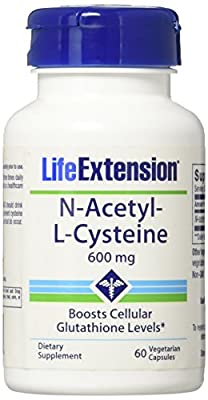 Life Extension N-Acetyl-L-Cysteine (NAC) - 60 - 600mg Veggie Caps