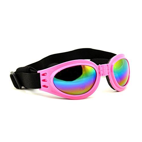 4yourpet 3766 zonnebril van kunststof voor honden, glazen regenboog gespiegeld, roze