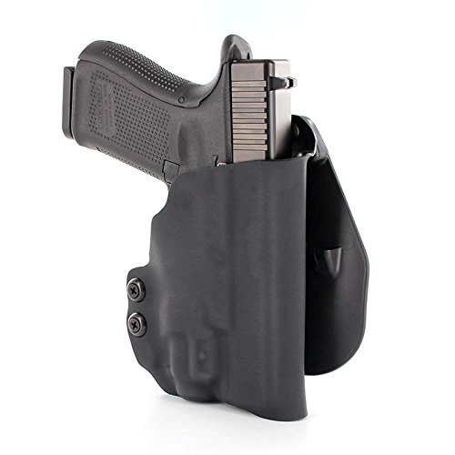 OWB Kydex Paddle Holster - TLR-8 - Black (Right-Hand, Fits Glock 20/21/37)