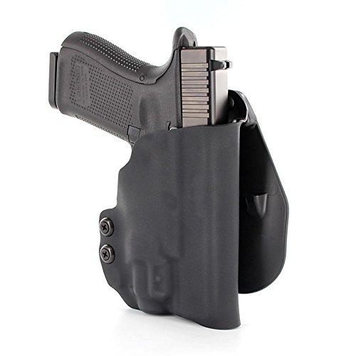 OWB Kydex Paddle Holster - Olight PL Mini - Black (Right-Hand, Glock 19,23,32)