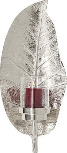 Kare Design Windlicht Leaf Silber, 25 x 56 x 17 cm
