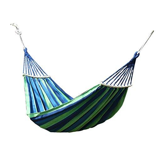 Nihlsen Portátil doble hamaca para acampar paracaídas tela de nylon hamaca columpio para hamacas al aire libre viajes playa-280 * 150