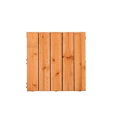 terassenfliesen aussen Holz, rutschfeste Bodenfliesen Badezimmer Terrassenfliesen Für Innen Außen Balkon Innenhof Dekoration Tannenholz 4 Lamellen