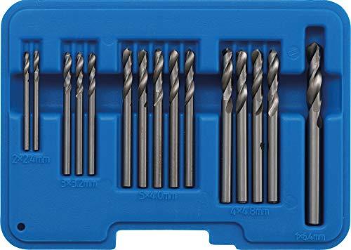 BGS 2097 | Blindnietbohrer-Satz | 15-tlg. | HSS | 2,4 - 6,4 mm | Spitzenwinkel 135° | inkl. Kunststoff-Koffer