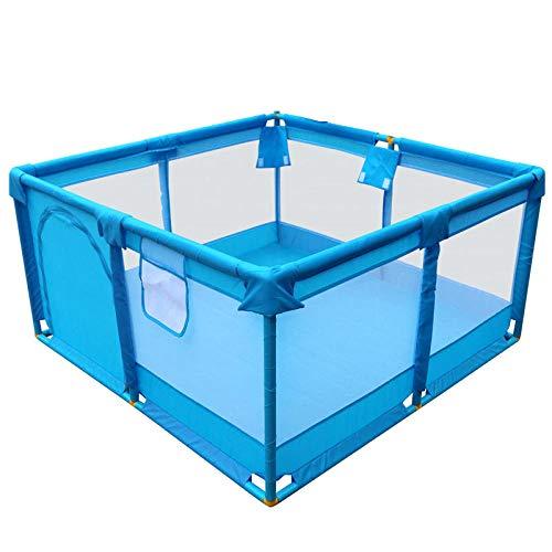 Vitila 22 sq ft BlauLaufgitter Baby mit Atmungsaktivem Netz,6 eckig Adam Und Eule Laufgitter für Indoor Outdoor