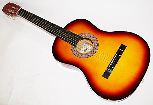 Cherrystone Konzertgitarre Akustik Gitarre Schülergitarre Größen- und Farbwahl (4/4, sunburst)