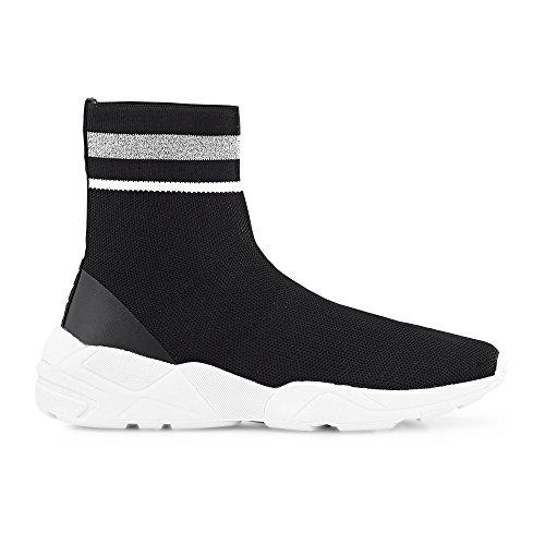 Another A Damen Trend-Sneaker aus Textil ? Slipper in Schwarz im Socken-Look Schwarz Textil 39