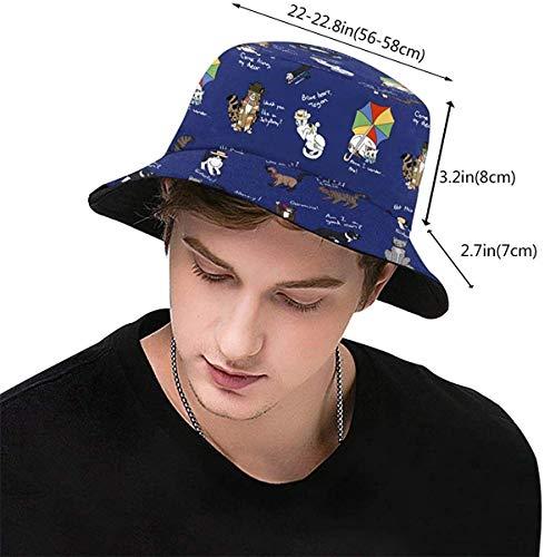 ZharkLI Chapeau Doctor Who Cats Sun Fisherman Cap Outdoor Hat Chapeau Protection UV Chapeau Pliable Léger Respirant Voyage Cap Noir