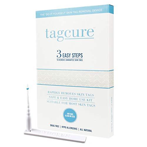 Tagcure - Set para eliminar fibromas, verrugas, verrugas de tallo o protuberancia de la piel - suave en microbands/microbanda (Tagcure Starter Set 10 Microbandas)