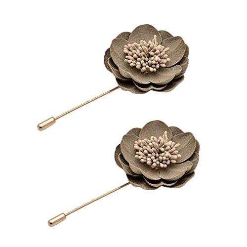 2PCS broches Broche Broches Broches élégantes décoration pour dames, gris