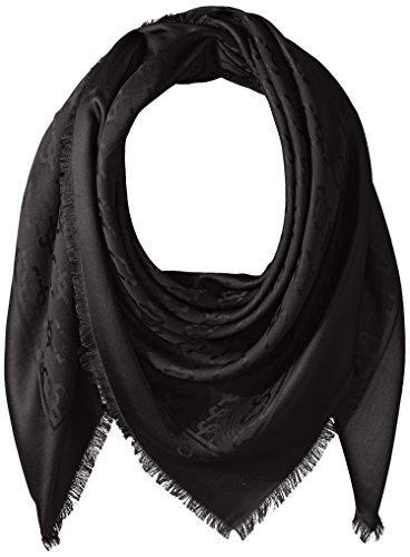 Marc Jacobs Damen Schal Monogramm Logo - Schwarz - Einheitsgröße