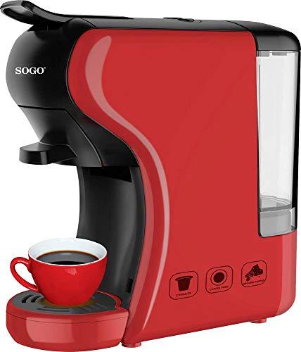 SOGO SS-5675 Cafetera 3in1 19 Bares SS-5675 Nespresso/Dolce Gusto/Espresso, Color Rojo, 0,6 L