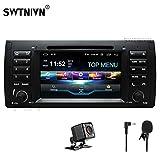 SWTNVIN Android 10.0 Autoradio stéréo pour BMW E39 Lecteur DVD Radio 7' HD Écran Tactile GPS Navigation avec Bluetooth WiFi Volant Commande 2 Go + 32 Go