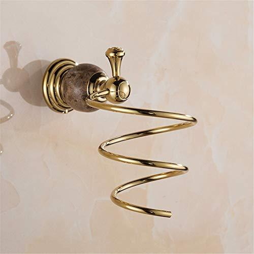 Accesorios de baño Accesorios de baño de acero inoxidable toallero estante de baño de oro europeo toallero traje tendedero para el cabello