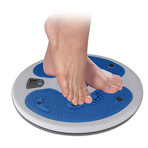 Yyqtgg Durable Waist Twister Plate, combina ejercicios aeróbicos Pp Twisting Board Waist Twist (blanco azul)