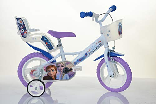 FROZEN ORIGINAL 12 inch KIDSBIKE girl child-bike childrenbike bicycle toybike lightblue Dollycarrier, frontbasket, training-wheels,