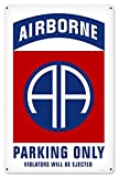 Maizeco Retro 82nd Airborne Parking Metal Signs Military 8