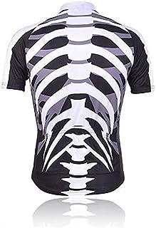 WOLFBIKE Men's Cycling Bike Bicycle MTB Sportswear skeleton Short Jersey Shirt Cycle Wear Clothes(L)