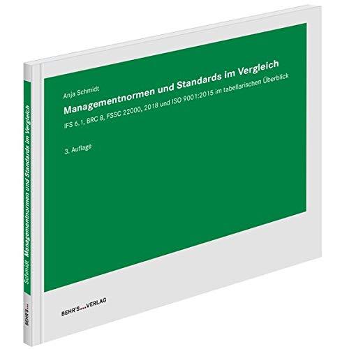Managementnormen und Standards im Vergleich: IFS 6.1, BRC 8, FSSC 22000, 2018 und ISO 9001:2015 im tabellarischen Überblick