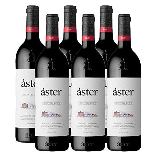 Vino Tinto Aster Crianza de 75 cl - D.O. Ribera del Duero - Bodegas Aster (Pack de 6 botellas)