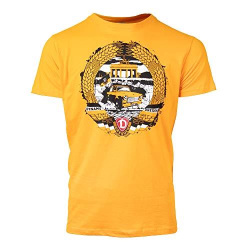 SG Dynamo Dresden T-Shirt Mottoshirt Berlin gelb, Größe:5XL