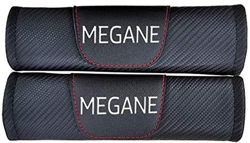 YFBB 2Pcs Car Carbon Fibra Almohadillas Cinturón Seguridad, para Renault Megane Ajustable Adecuada Adultos Niños Comfort Protection, Auto Seat Belt Shoulder Estilo Accesorios