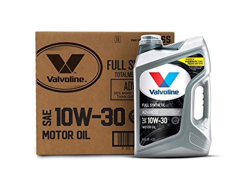 Valvoline Advanced Full Synthetic SAE 10W-30 Motor Oil 5 QT, Case of 3