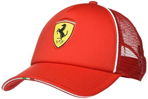 PUMA Ferrari Fanwear Trucker Cap Gorra, Hombre, Rosso Corsa, Adult