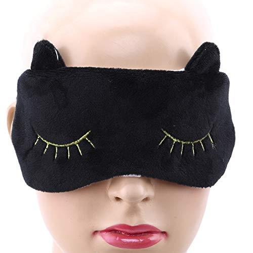 Ldd Encantador Gato Nuevo Peluche de Felpa máscara de Ojo mascarilla Acolchada Cubierta de Sombra Viaje Relajarse Ayuda Vendas