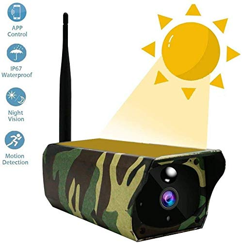 Why Choose WiFi IP Camera Solar Powered Wireless Security Camera with IR Night Vision Alarm Alert & ...