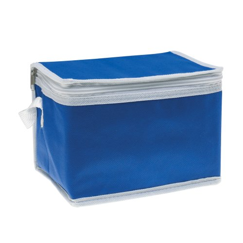 eBuyGB Isotherme Sac Isotherme avec Bordure Blanche, Non tissé, Bleu, 22.2 x 14 x 3.4 cm