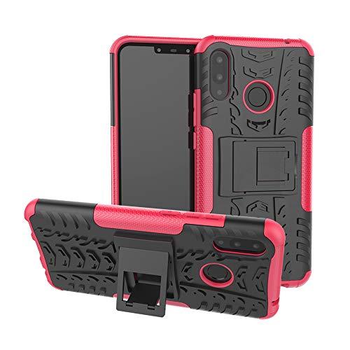 TiHen Handyhülle für Huawei Nova 3i/P smart Plus Hülle, 360 Grad Ganzkörper Schutzhülle + Panzerglas Schutzfolie 2 Stück Stoßfest zhülle Handys Tasche Bumper Hülle Cover Skin mit Ständer -Rose