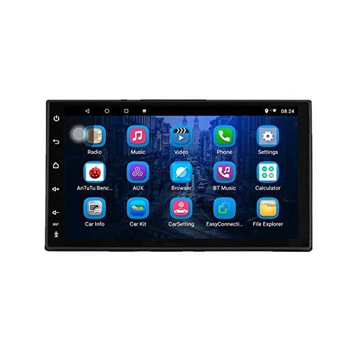 JIBO Android 8.1 7 Pulgadas Estéreo Coche Doble DIN Navegacion GPS Unidad Principal Ocho Nucleos Estéreo Automóvil Radio Automática Bluetooth RDS SWC Capacitivo Multitáctil Pantalla