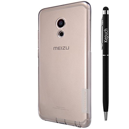 Kepuch Ultra Dünn Transparenter Soft TPU Hülle Tasche Smart Hülle Cover für MeiZu PRO 6 - Gris