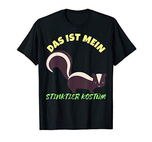 Das ist Mein Stinktier Kostüm Karneval T-Shirt Herren Damen