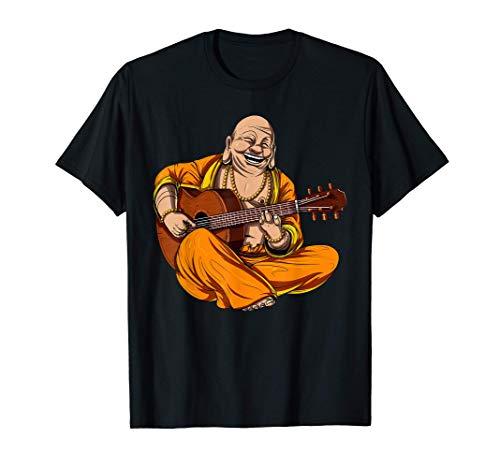Buda toca la Guitarra Espiritual Budista Namaste Hippie Camiseta
