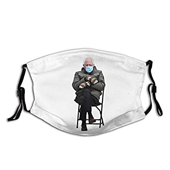 Bernie Sanders Mittens Sitting Inauguration Funny Meme Premium Adults Mouth Mask with Washable Reusable Adjustable Face Mask-OneSize-
