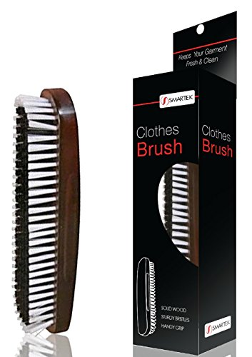 Solid Wood Clothes Brush with Soft & Sturdy Bristles and Handy Grip SC-BR35