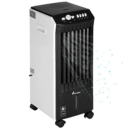 Bakaji Raffrescatore 3in1 Rinfrescatore Ventilatore Umidificatore d'aria Air Cooler Massima Potenza 65W 3 Velocità Raffreddamento ad Acqua con serbatoio Ghiaccio Acqua, Fuinzione Timer (7.5 Litri)